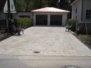Garagenzufahrt, Muschelkalk